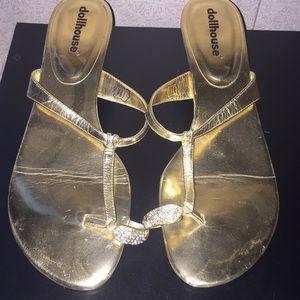 Doll house high heel flip flops